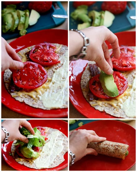 BLT Quesadilla Wrap | bacon recipes | easy lunch recipes | BLT recipes | perrysplate.com
