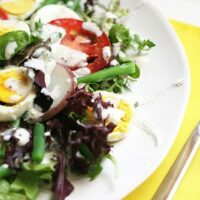 Green Bean and Egg Salad with Goat Cheese Dressing