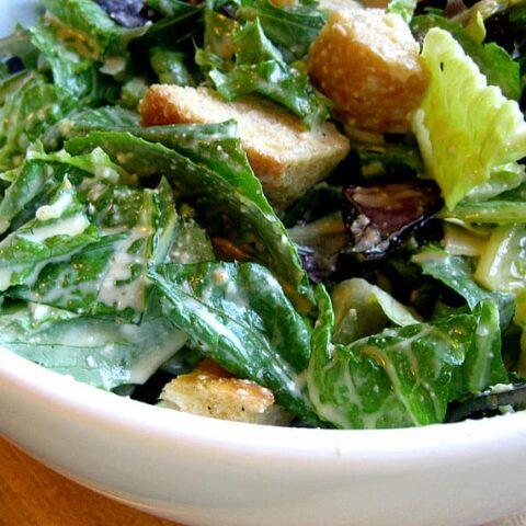 Caesar Salad + Homemade Croutons