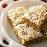 Toasted Coconut Ginger Blondies