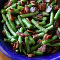 Baco-fried Green Beans