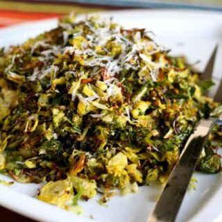 Crispy Roasted Shredded Brussels Sprouts