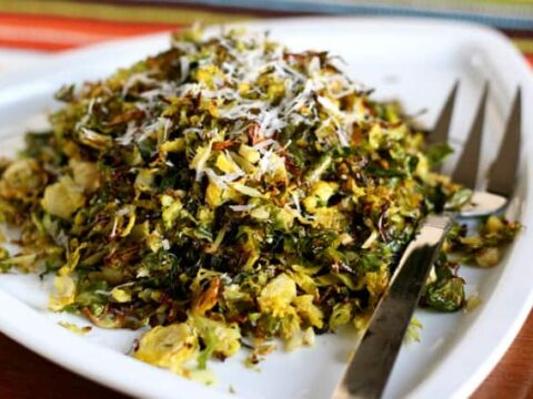 Roasted Shredded Brussels Sprouts