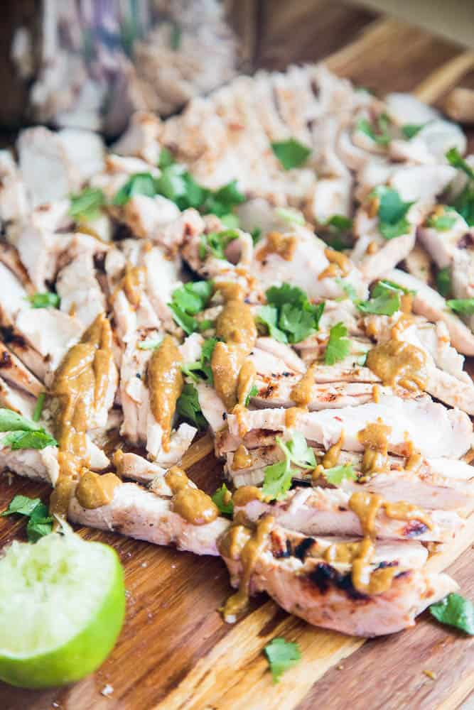 """Easy Thai Grilled Chicken and """"Peanut"""" Sauce 