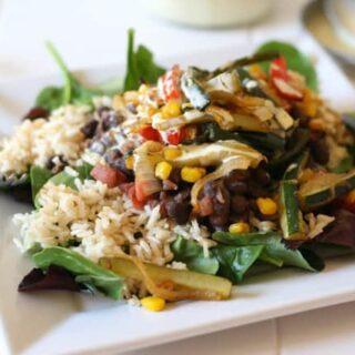 Chipotle Roasted Vegetable Layered Salad