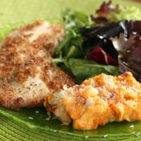 Coconut-Almond Crusted Fish + Tropical Sweets & Reds Mash