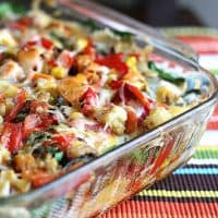 Stacked Roasted Vegetable Enchiladas