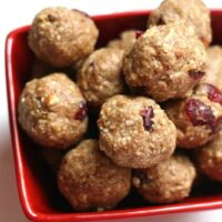Spiced Cranberry Energy Balls