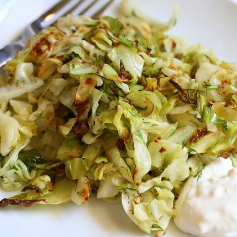 Dill Roasted Cabbage