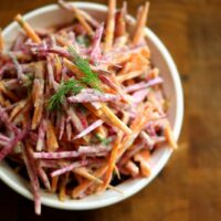 Candy-Striped Beet and Carrot Slaw
