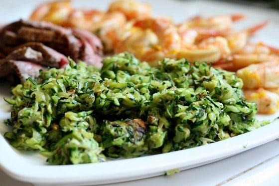 Spicy Shredded Zucchini with Anchovies | zucchini recipes | paleo recipes | Whole30 recipes | gluten-free recipes | keto recipes | perrysplate.com