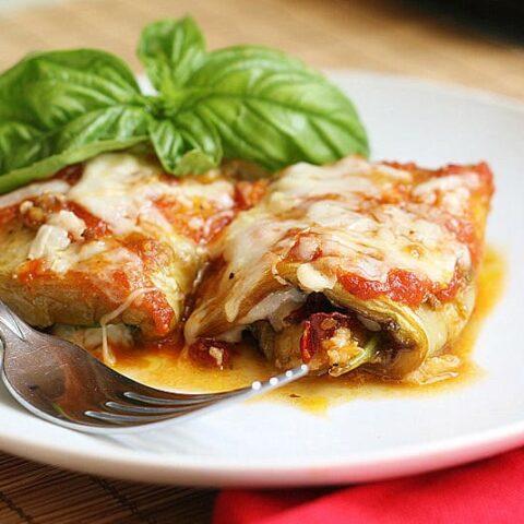 Pesto Eggplant Rollatine
