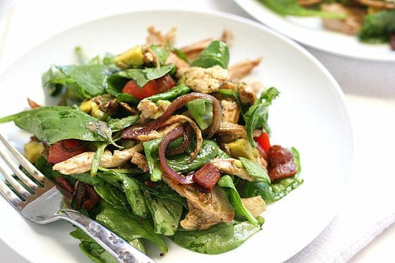 BLT Chicken Salad with Warm Bacon Dressing - Perry's Plate