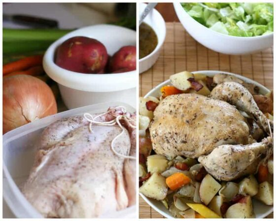 Slow Cooker Whole Chicken (Chicken in the Pot) and a review of Sizzling Skillets and Other One Pot Wonders by Emeril Lagasse | paleo recipes | slow cooker recipes | crock pot recipes