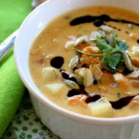 Pumpkin-Coconut Chowder with Shrimp