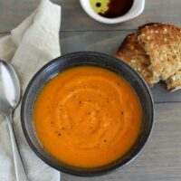 Roasted Butternut Squash, Carrot, and Ginger Soup