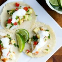 Tropical Fish Tacos with Pinapple Salsa