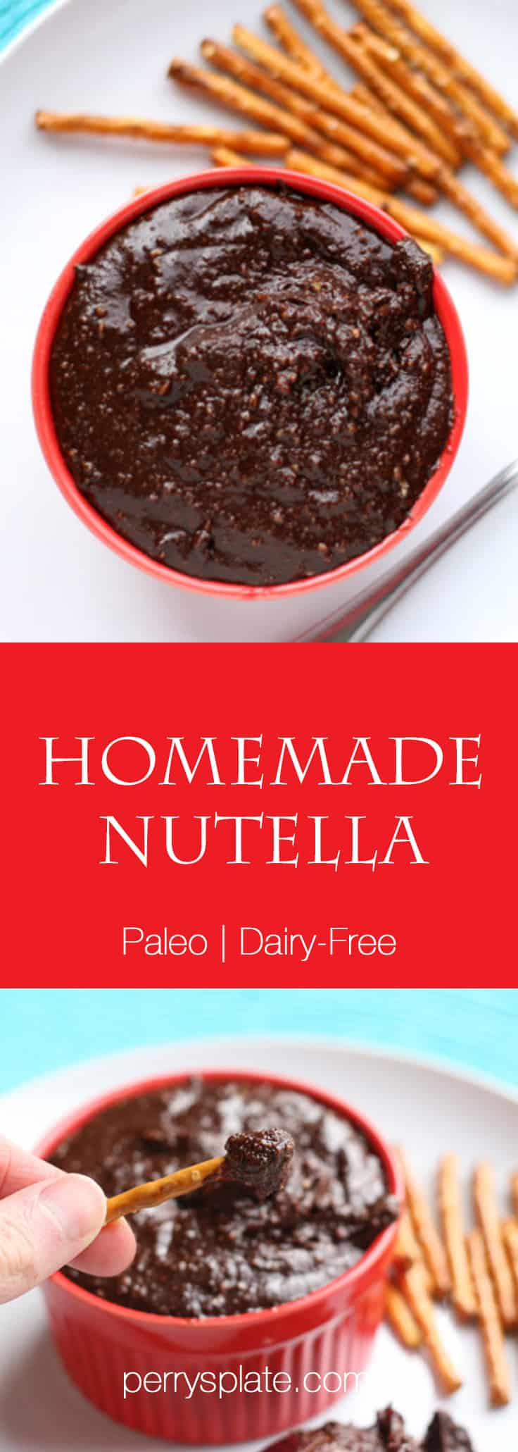 Homemade Nutella | nutella recipes | gluten free recipes | dairy free recipes | paleo dessert recipes | gluten-free recipes | nutella recipes | perrysplate.com