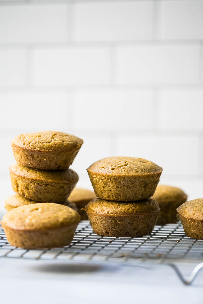 "These gluten-free ""corn""bread muffins are made with millet flour! Millet flour has a corn-like flavor and is a great substitute for cornmeal. 