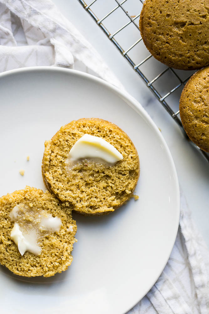 """These gluten-free """"corn""""bread muffins are made with millet! They're a great alternative if you're avoiding cornmeal, but still want a tasty muffin to dip into your chili."""