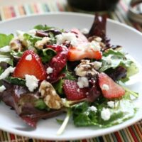 Spring Greens & Strawberry Salad + Maple Vinaigrette