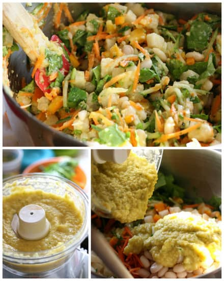 Crunchy Vegetable Salad with Mexican Mango Dressing | gluten-free recipes | salad recipes | mango recipes | vegetarian recipes | perrysplate.com