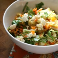 Crunchy Vegetable Salad with Mexican Mango Dressing