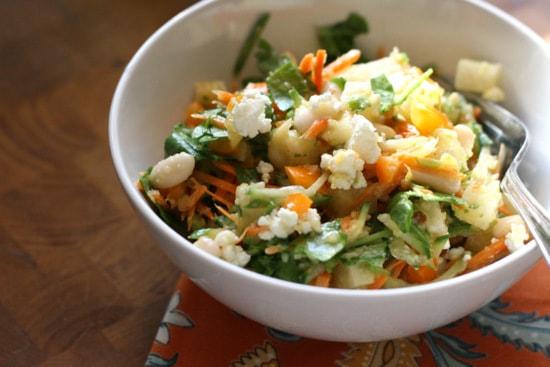 Crunchy Vegetable Salad with Mexican Mango Dressing   gluten-free recipes   salad recipes   mango recipes   vegetarian recipes   perrysplate.com
