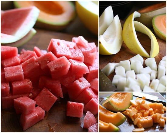 Melon Salad with Ginger-Mint Dressing   melon recipes   Paleo dessert recipes   summer recipes   salad recipes   dairy free recipes