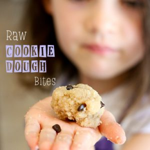 Raw Cookie Dough Bites -- www.PerrysPlate.com