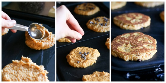 Gluten-Free Pumpkin Chocolate Chip Pancakes | paleo recipes | paleo pancakes | gluten-free pancakes | pumpkin pancakes | pumpkin recipes | -- www.PerrysPlate.com