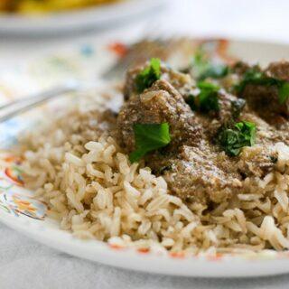 Slow Cooker Indian Beef