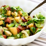 Brussels Sprouts, Sausage, & Apple Hash - www.PerrysPlate.com