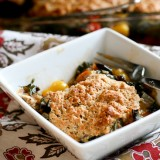 Tomato and Chard Cobbler -- www.PerrysPlate.com