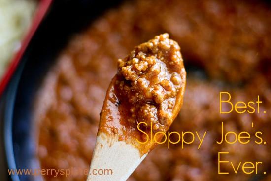 Best. Sloppy Joe's. Ever. -- www.PerrysPlate.com