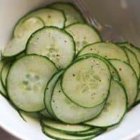 Simple Marinated Cucumbers