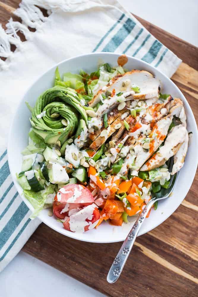 Fiesta Lime Chicken Salad | Whole30 recipes | paleo recipes | perrysplate.com