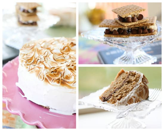 Smitten Kitchen's S'more Layer Cake - www.PerrysPlate.com