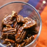 5-Minute Maple-Ginger Glazed Pecans - www.PerrysPlate.com