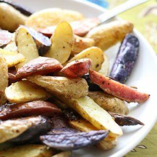 Crispy Lemon-Garlic Fingerling Potatoes