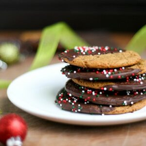 Chocolate-Dipped Spicy Gingersnaps - www.PerrysPlate.com