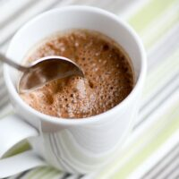 Dairy-Free, Naturally-Sweetened Hot Chocolate (In a Blender)