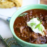 Slow Cooker Steak Chili - www.PerrysPlate.com