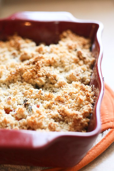 Apple-Pomegranate Breakfast Crisp (Grain and Gluten-Free!) -- www.PerrysPlate.com