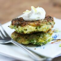 Leek and Brussels Sprout Fritters