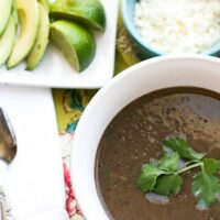 Quick Black Bean & Green Chile Soup