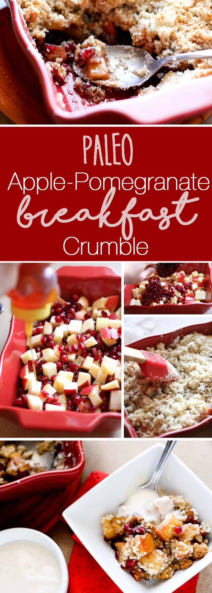 Apple-Pomegranate Breakfast Crumble (Grain and Gluten-Free!) -- www.PerrysPlate.com