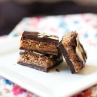 Nutty Cinnamon Chocolate Truffle Squares