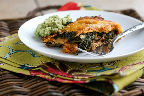 shredded-beef-poblano-and-kale-stacked-enchiladas