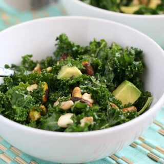 Massaged Kale Salad with Pistachios, Dried Cherries, and Avocado